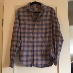 Jcrew flannel slim fit button down shirt